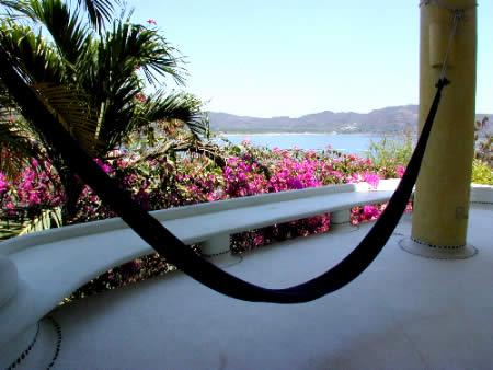 hammock,  upper suite with patio and Ocean View - Casa Bugambilia - Zihuatanejo - rentals
