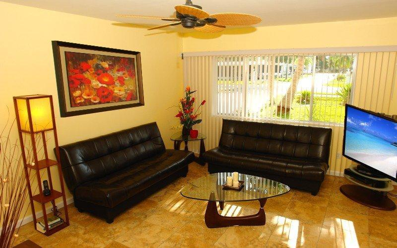 Living Room with TV and Netflix - BeachDream - Fort Myers Beach - rentals