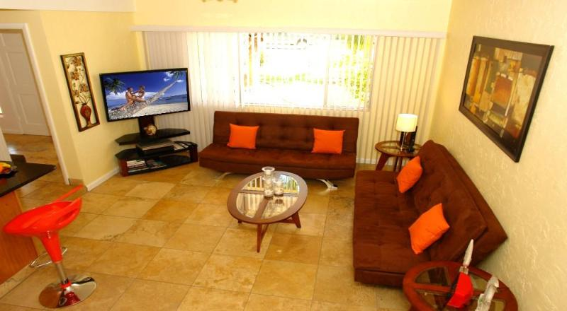 Living Room with large TV - BeachFantasy - Fort Myers Beach - rentals