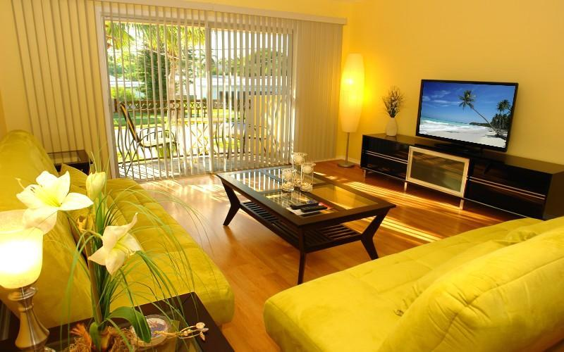 Living Room with HD TV - BeachParadise - Fort Myers Beach - rentals