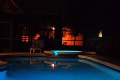Pool at night - Wow Luxury Disney 5 bed villa pool, spa, g/room!! - Orlando - rentals