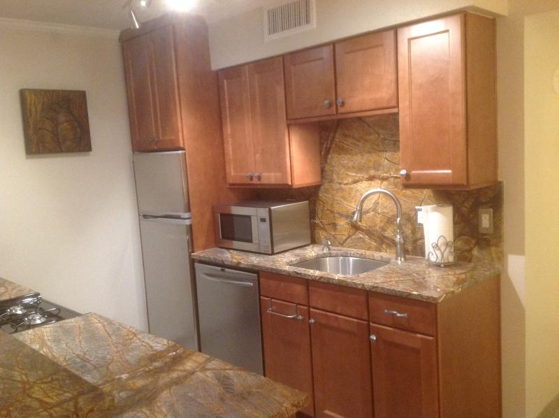 Fully equipped kitchen - DOWNTOWN AUSTIN CONDO, 6TH ST. BLOCKS TO CONGRESS. - Austin - rentals