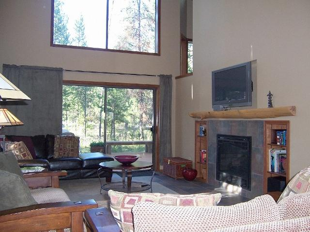 Great room for family or friends to get together.  Gas fireplace and 42