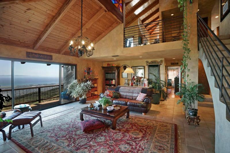 Living room - Superb Ocean View Mountain Home - Santa Barbara - rentals