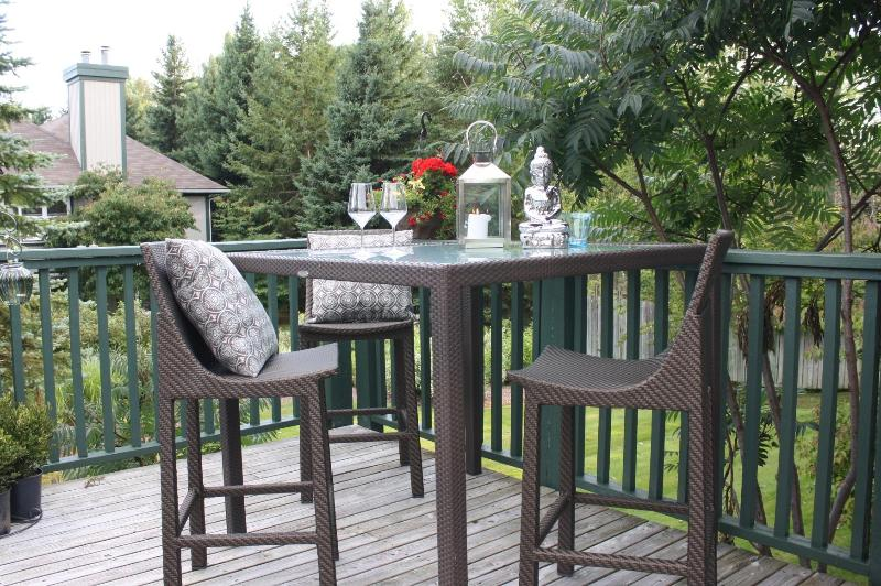 Deck off Dining room - Winter Rental Lighthouse Point, Collingwood, ON - Collingwood - rentals