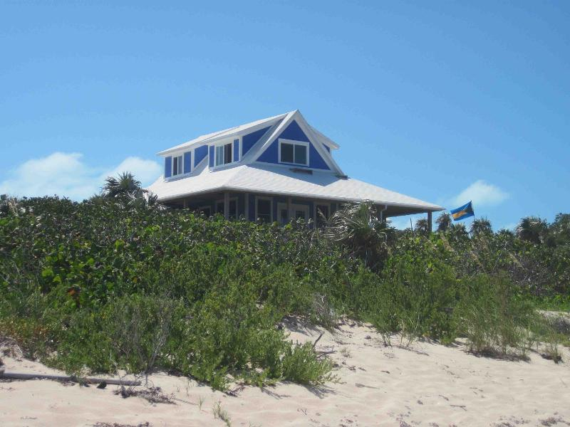 the house from the beach - Beautiful Oceanside House on Secluded Protected Cove - Salt Pond - rentals