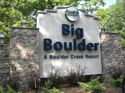 Entance to Big Boulder/ Blue Herron - 10 Blue Herron- 4 Season Home on Big Boulder Lake - Lake Harmony - rentals