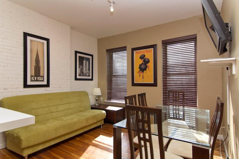 Living Room with sleep sofa - Sleeps 7! 4 Bed/2 Bath Apartment, Times Square, Awesome! (8074) - Manhattan - rentals