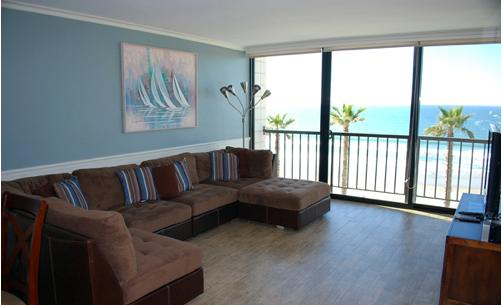 One Bedroom, one bathroom Ocean front condos at Capri - Image 1 - Pacific Beach - rentals