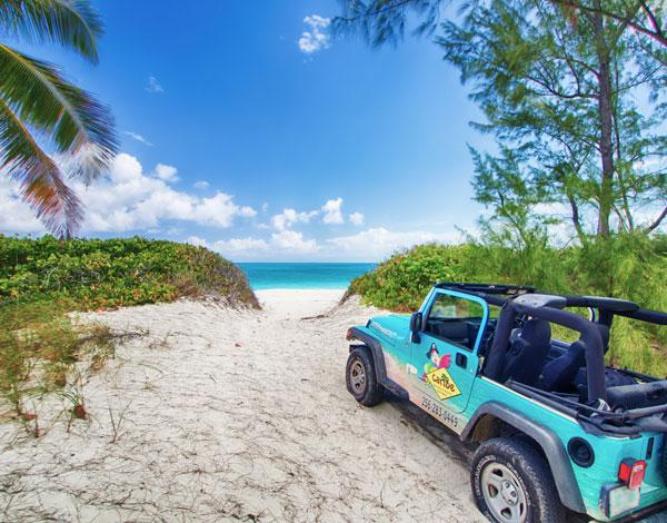 touring with the jeep - Cottages at Caribe with Jeep included - Great Exuma - rentals
