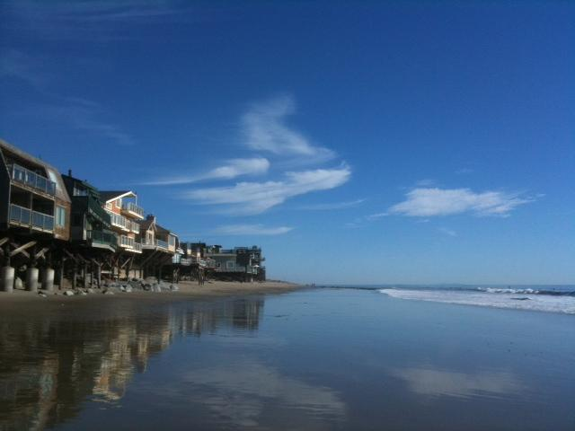 Our beach at low tide. - Stunning  'A-FRAME' on PRIVATE Beach in Malibu. Totally Renovated. - Malibu - rentals
