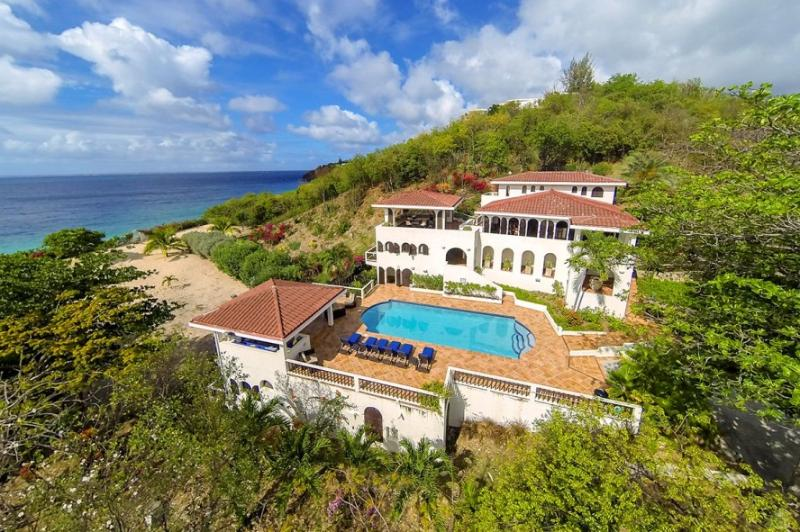 Joie de Vivre at Terres Basses, Saint Maarten - Beachfront, Large Pool & Gazebo, Panoramic Views - Image 1 - Terres Basses - rentals