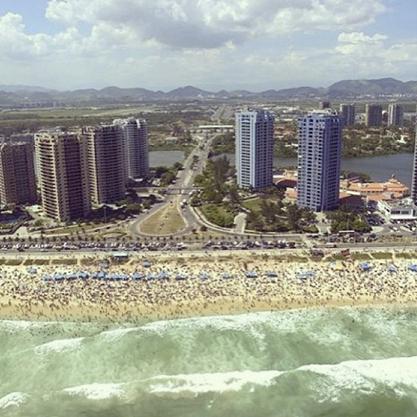 Aerial view of the apartment - BEACH FRONT APARTMENT IN RIO DE JANEIRO!!! - Rio de Janeiro - rentals