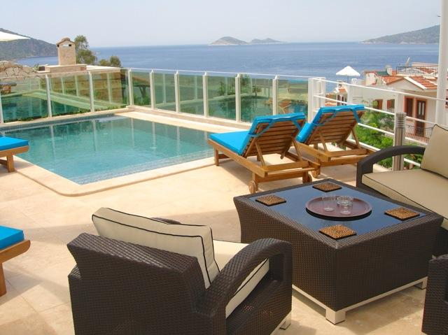pool and lovely views - Central location, 100 mtrs from beach, restaurants and village centre - Kalkan - rentals