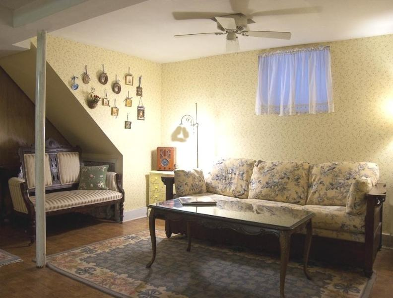 Living room with queen sleeper sofa - Fully Furnished 1.5 BR Spacious Lincoln Park Apt! - Chicago - rentals