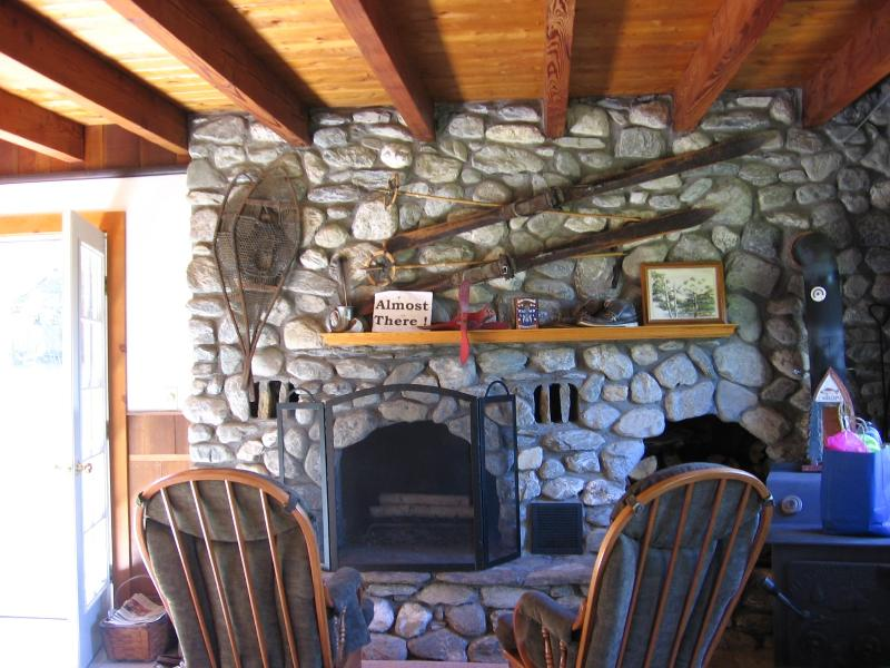 fireplace with rocking chairs - Berkshire Waterfront Home - Becket - rentals
