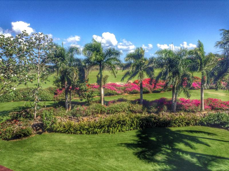View of the backyard and the Dye Fore golf course from the penthouse. - Casa de Campo Luxury Penthouse - La Romana - rentals