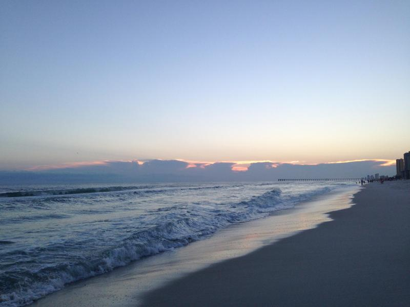 Beach in front of private clubhouse and pool - Gulf Highlands Beach Resort - Free Private WiFi - Panama City Beach - rentals
