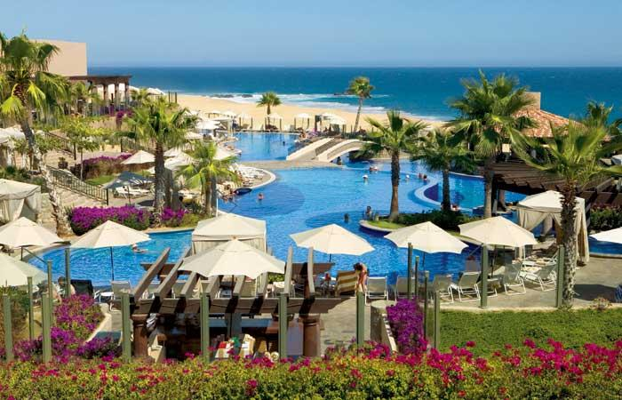 Sunset Beach Main Pool and Beach - Pueblo Bonito Sunset Beach Executive Suite with Ocean View - Cabo San Lucas - rentals