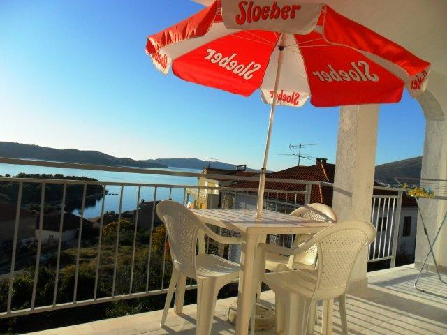 Wiev from terrace - Mlakic Apartment A (2+1) - Trogir - rentals