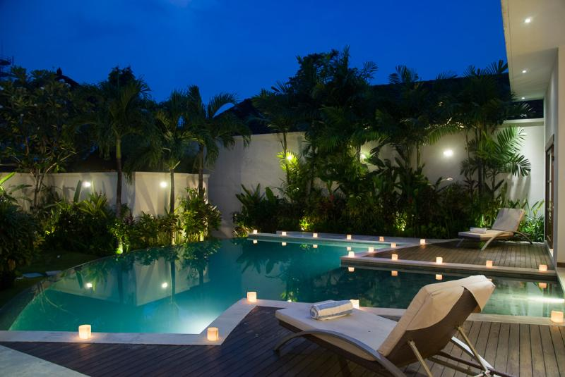 Villa Suliac - Pool by night - SUPER SPACIOUS 3 BED, GREAT LEGIAN LOCATION - Legian - rentals