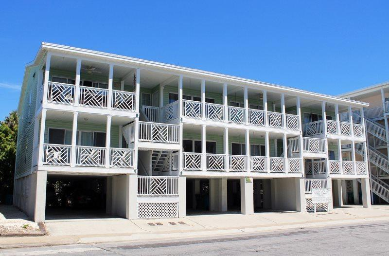 Enjoy the great ocean view from your private balcony and you are just steps to the beach - South Beach Ocean Condos - North - Unit 3 - Just Steps to the beach - Ocean View - FREE Wi-Fi - Tybee Island - rentals