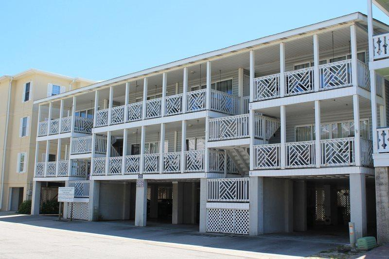 Enjoy the ocean view from your private deck and you are just steps to the beach as well - South Beach Ocean Condos, South - Unit 6 - Just Steps to the beach - Ocean View - FREE Wi-Fi - Tybee Island - rentals