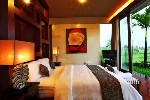 one of rooms which is surrounded by rice field view - ASTAMANA VILLA COZY 3 BED ROOM VILLA WITH RICE FIELD VIEW - Denpasar - rentals