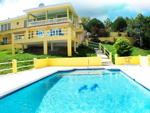 Pool and back of house - Cookies Paradise Vieques - 3BR - Isla de Vieques - rentals