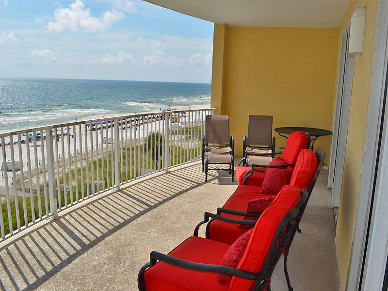 Balcony vew. West - Twin Palms #504. 2 bdrm/2bath Ocean Front Condo - Panama City Beach - rentals