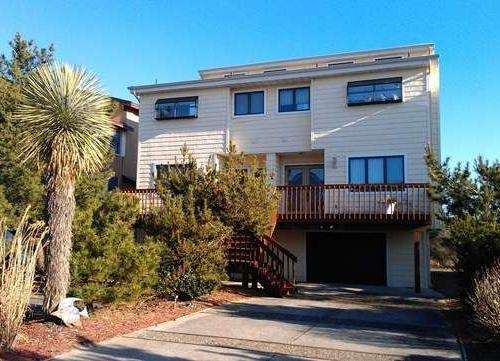 Driveway and house entrance from quiet street - Direct Oceanfront Home - Brigantine - rentals