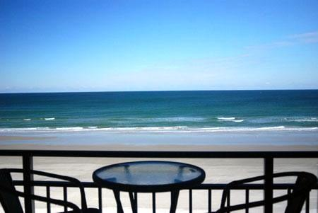 View From Balcony - Direct Ocean Front   Steps to the Pool & Tiki Bar - Daytona Beach - rentals