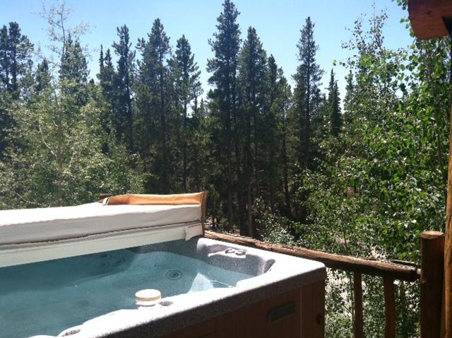 Hot tub on open deck - stars and scenario while you soak in luxury! - Amazing, Secluded Mountain Log Cabin w Hot Tub! - Fairplay - rentals