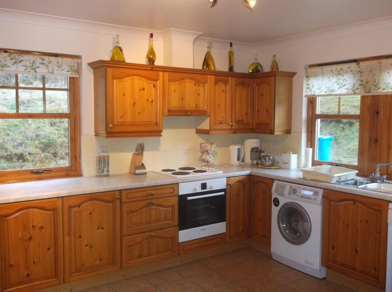 Spacious well equiped kitchen - BEAUTIFUL MODERN HOME WITH FANTASTIC VIEWS OVER THE PINE FORESTS ONTO THE HILLS - Dulnain Bridge - rentals