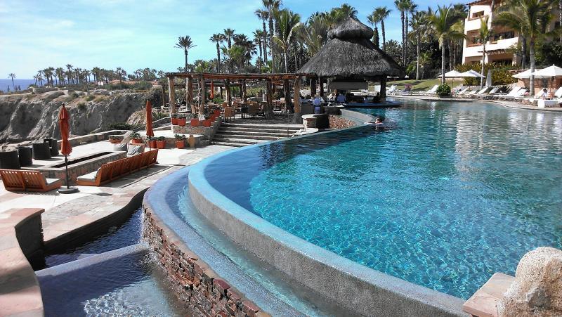 Palapa Restaurant and Pool - Esperanza Resort Villa Rental 3BR UltraLuxury - Cabo San Lucas - rentals