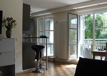 the living room - Modern Luxury Apartment at Checkpoint Charlie - Berlin - rentals