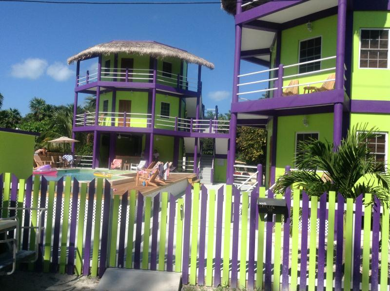 Our property from the front street - Caye Caulker Towers - Caye Caulker - rentals