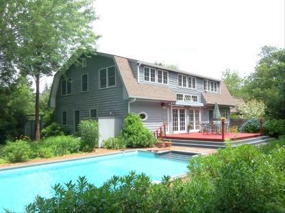 Backyard, Outside shower, Butterfly Garden - Walk to Beach 4BR 2.5 Bath Clearwater Beach Access - East Hampton - rentals