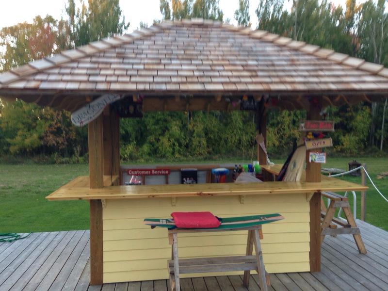 Tiki bar on large deck. - Spring Summer Getaway Close to Town and Waterfront - Clarksburg - rentals