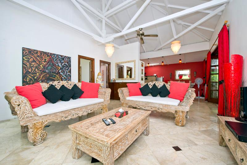 lounge area with 46 inch smart 3D TV and surround sound system - Villa Bohemia , 3 Br , 3.5 Bthrm , Wifi , Ac, Pool - Seminyak - rentals