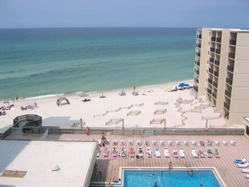 View From Living Room & Balcony - Gulf Front Condo At Pinnacle Port Resort Unit A537 - Panama City Beach - rentals