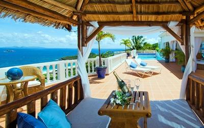 Private 4 Bedroom Villa with View of the Caribbean Sea in Red Pond - Image 1 - Dawn Beach - rentals