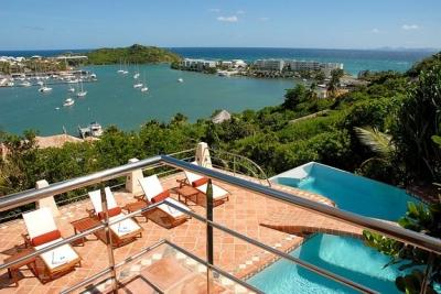 4 Bedroom Villa Overlooking the Ocean in Oyster Pond - Image 1 - Oyster Pond - rentals