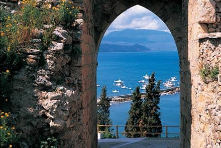 The view of the Koroni port from the castle - BEACH VILLA IN KORONI - Koroni - rentals