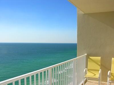 Balcony - 2 Bedroom (plus bunk rm)/3 bath Ocean front condo - Panama City Beach - rentals