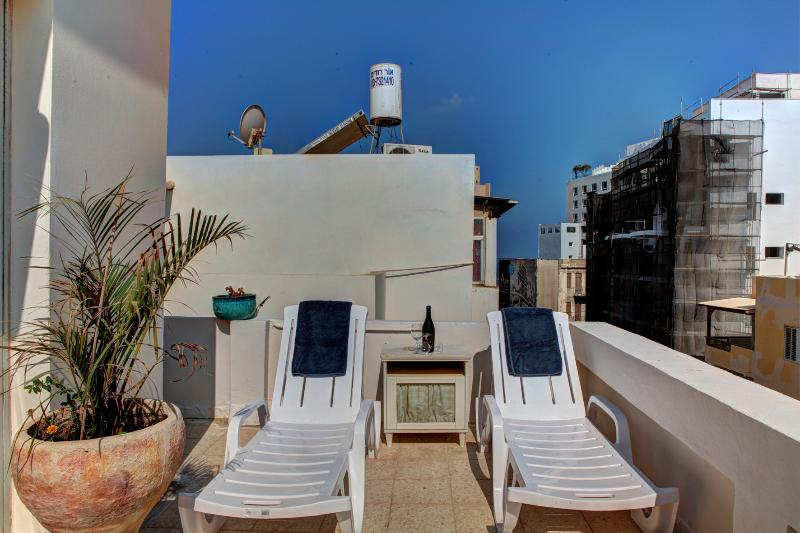 balcony - luxury loft apartament with balcony and a sea view - Tel Aviv - rentals
