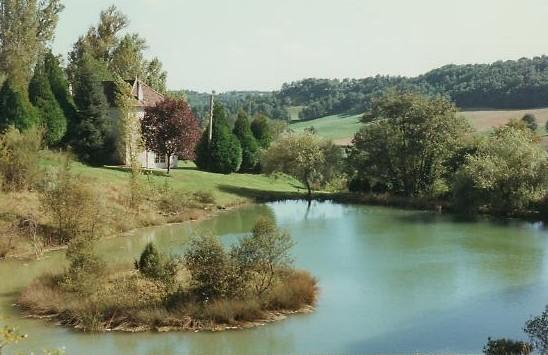 Las Tuillieres view from lake - Las Tuillieres 18th Century Manoir. - Montaigu-de-Quercy - rentals