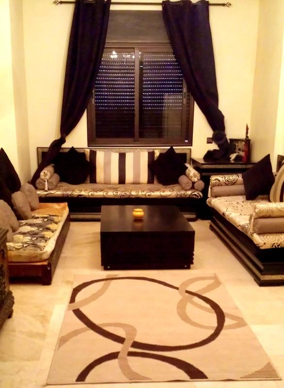 Open Plan Moroccan Salon - Luxury Apartment - Gueliz New Town and near medina - Marrakech - rentals