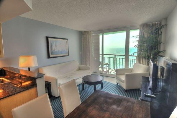 Living Area - Luxury 2 Bedroom Condo at Oceans One Resort by the Beach and Amusement Park - Myrtle Beach - rentals