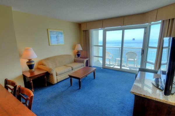 Living Room - Carolinian - 2 Bedroom Condo on the Ocean in Myrtle Beach - Myrtle Beach - rentals